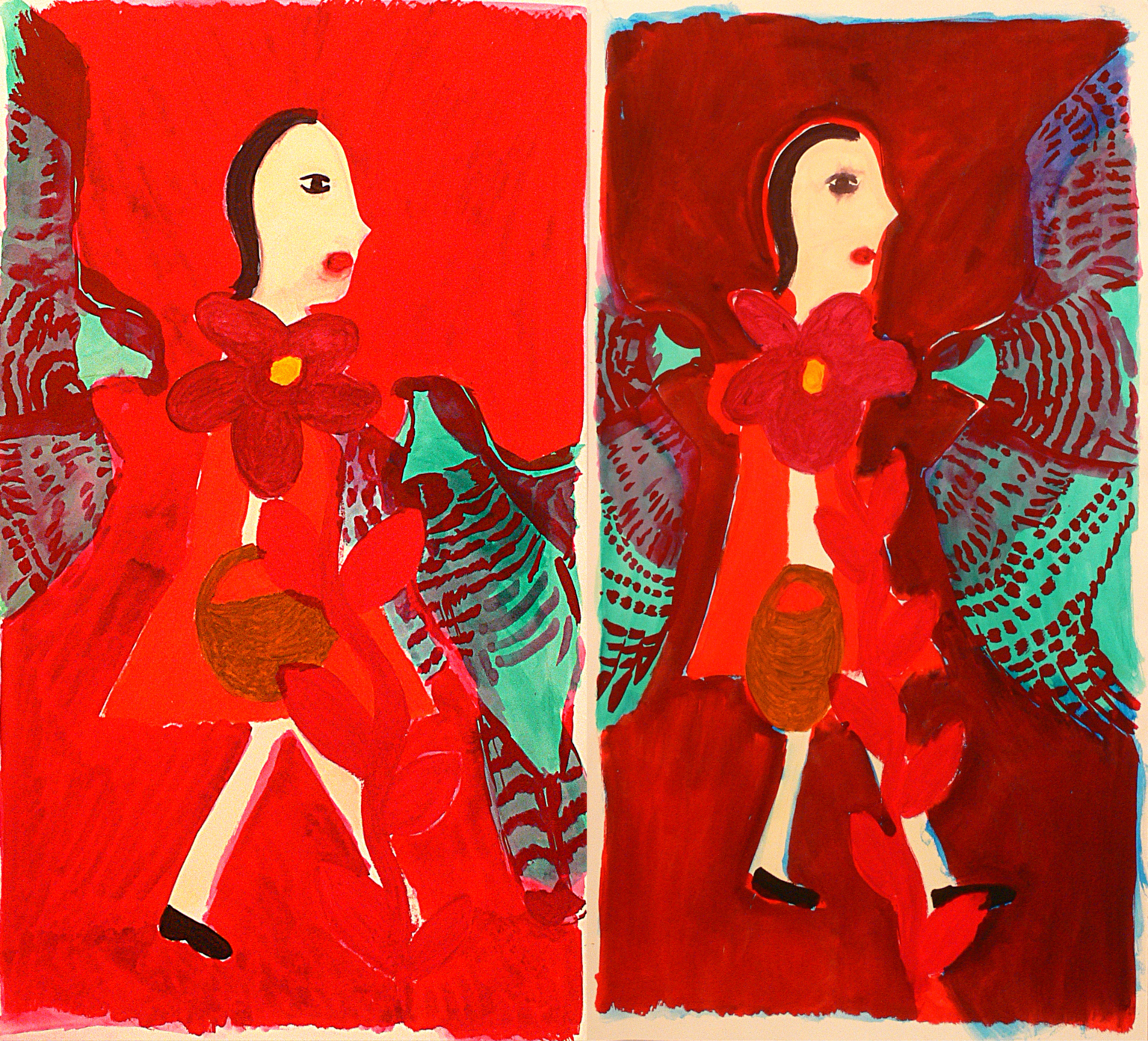 2 xA girl and two birds, 2009