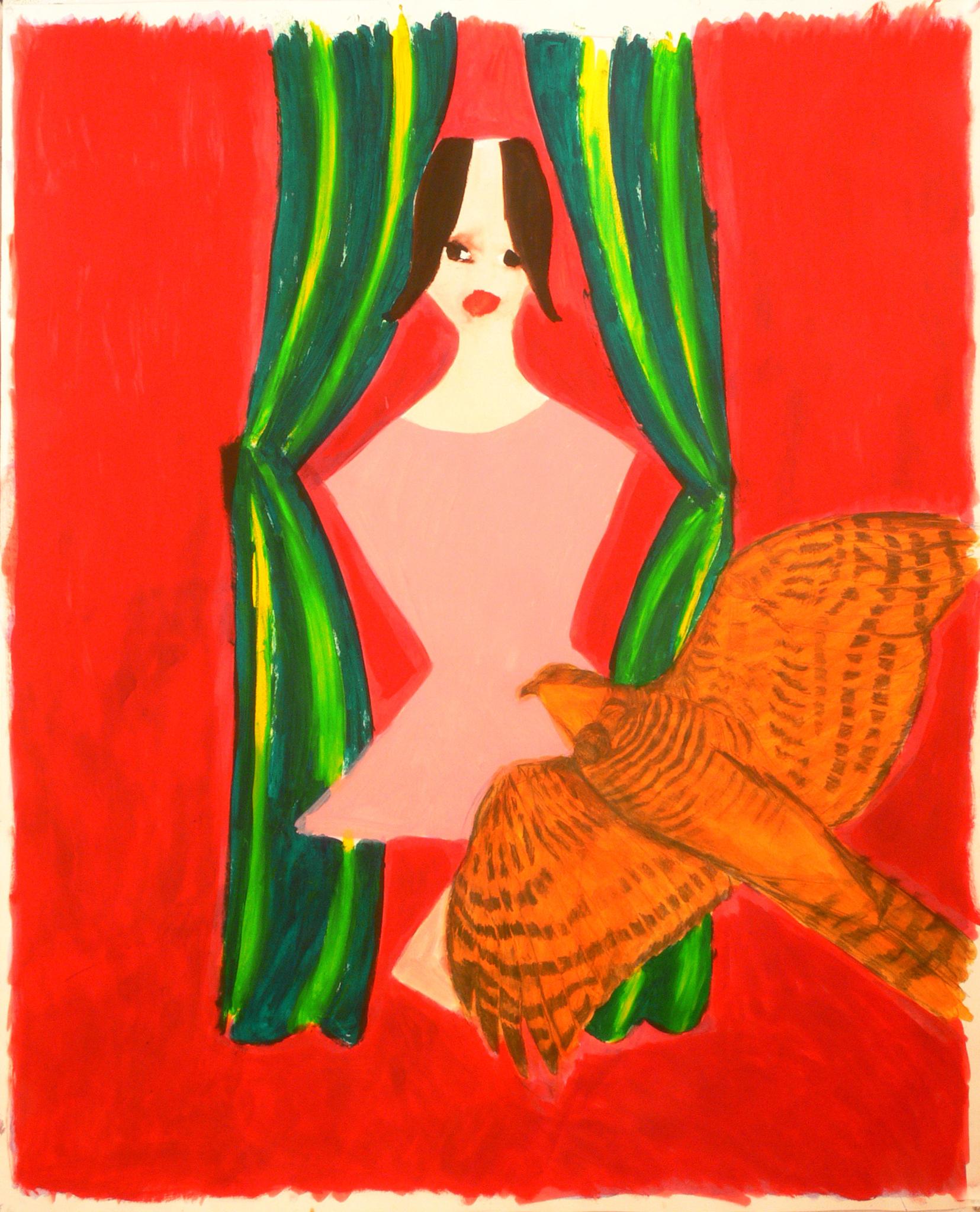 A dancer and a bird, 2007