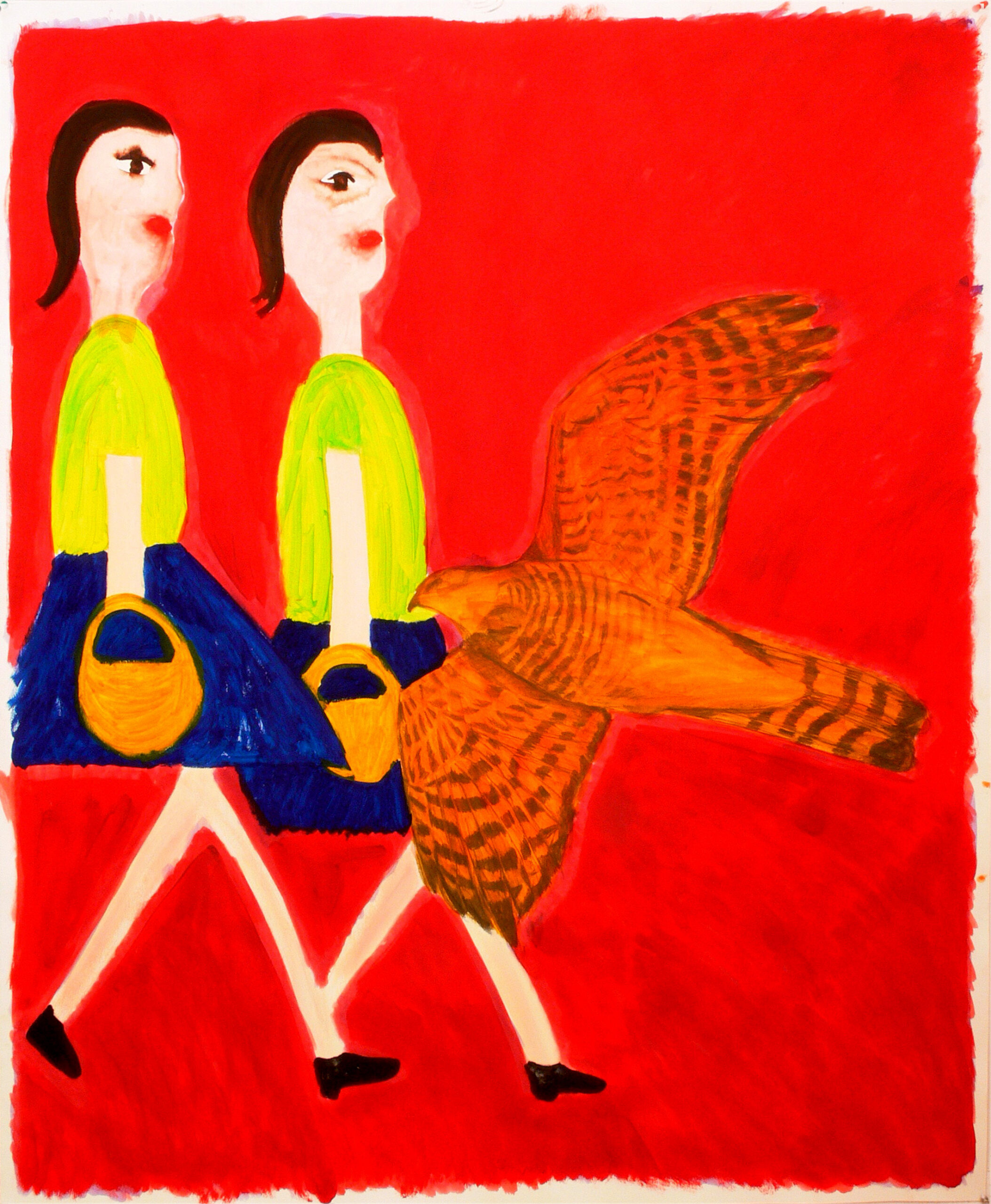 Two girls and a bird, 2007