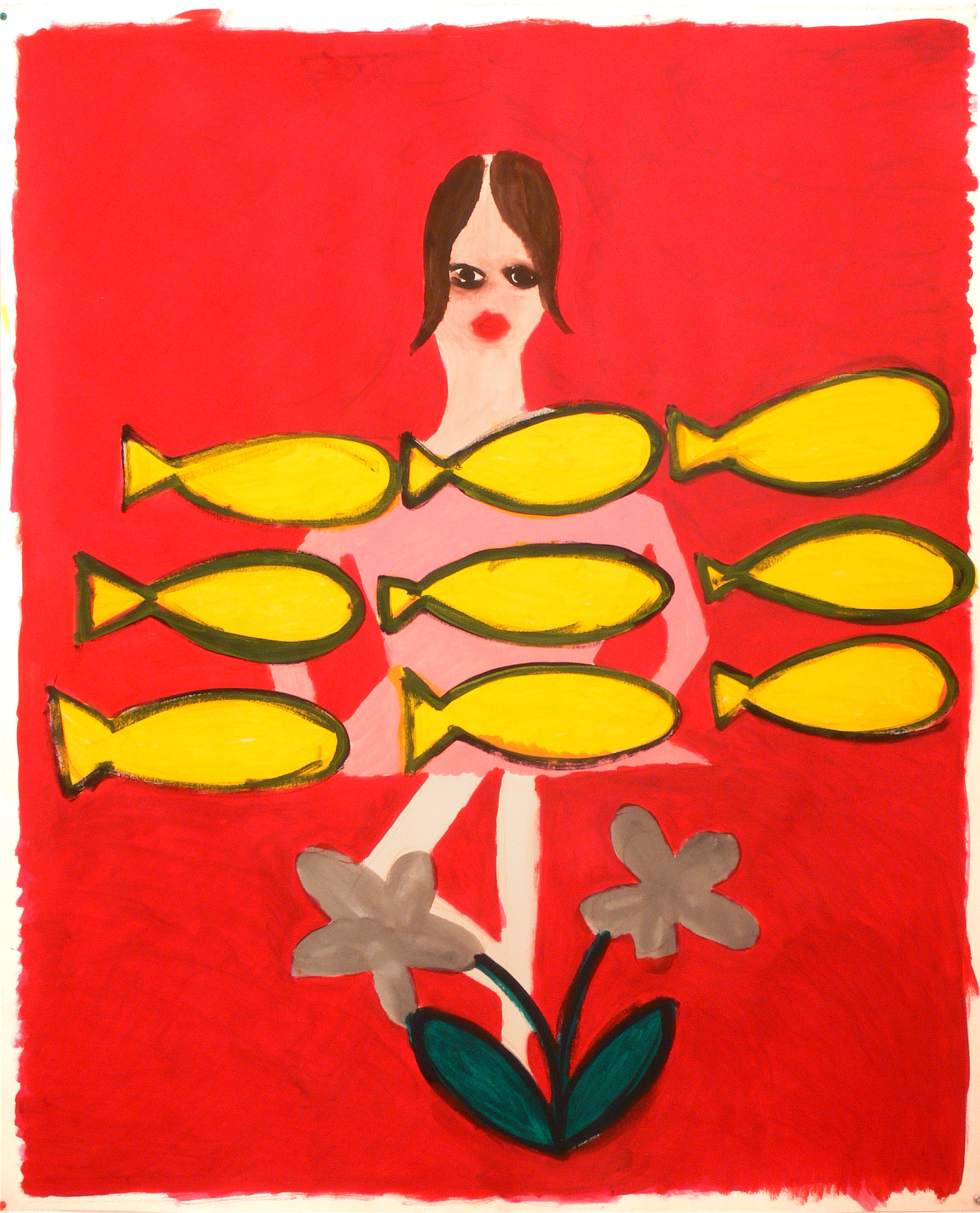A dancer, a flower and fishes, 2007