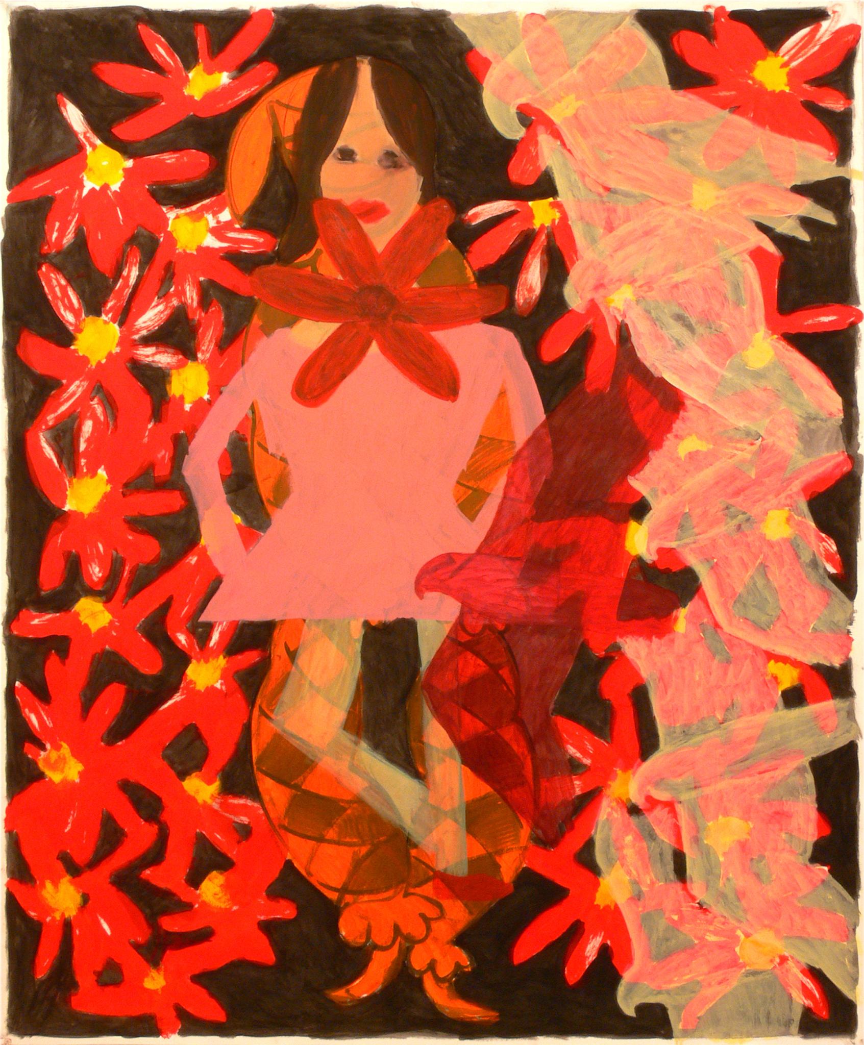 A dancer, a clown, birds and flowers, 2007