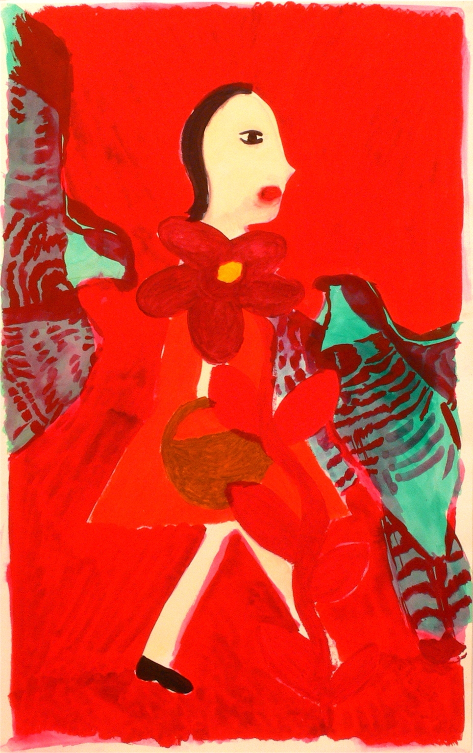 A girl and two birds, 2009