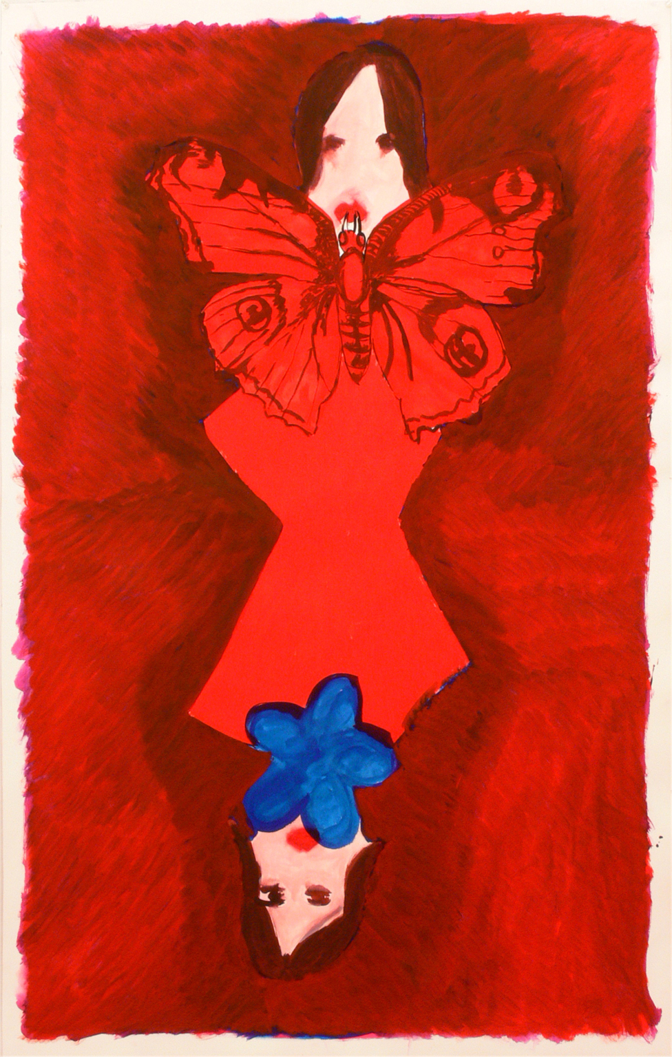 Two girls, a flower and a butterfly, 2010