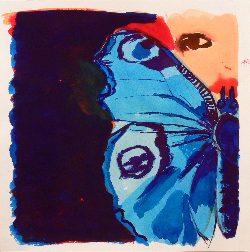 A girl's portrait and a butterfly, 2012