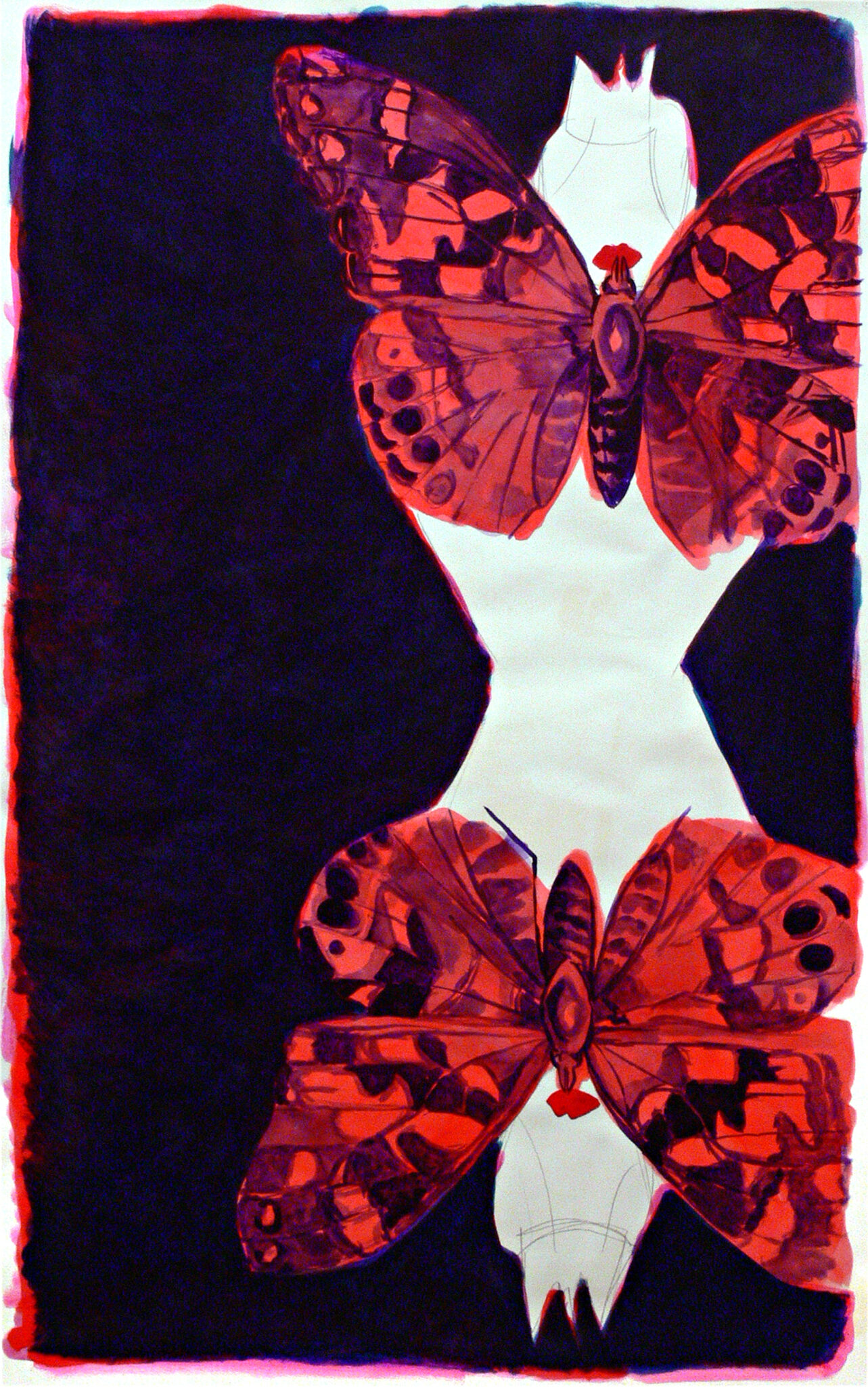 Two girls and two butterflies, 2014