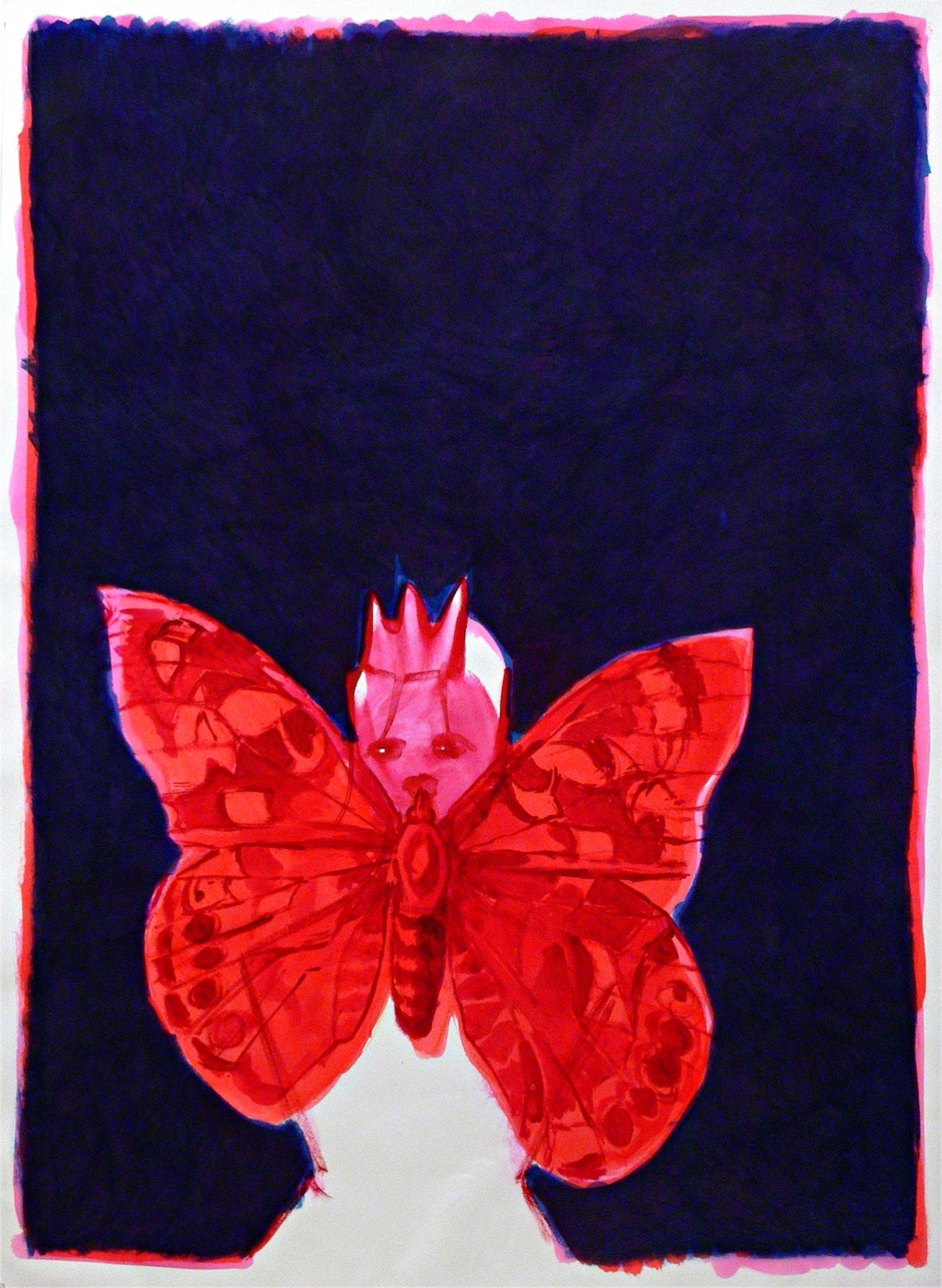 A queen and a butterfly, 2014