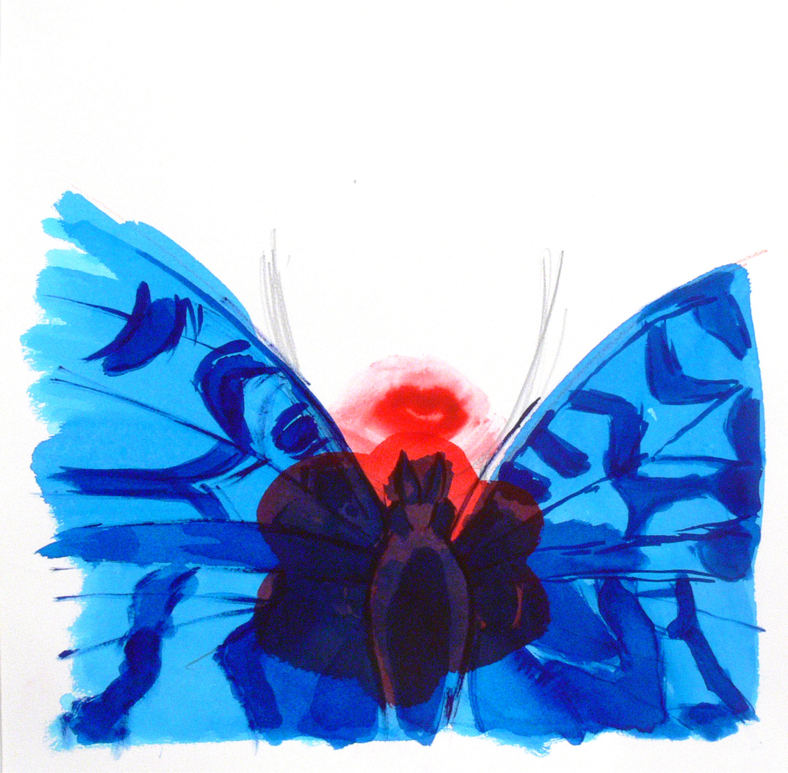 A girl's portrait, a flower and a butterfly, 2014