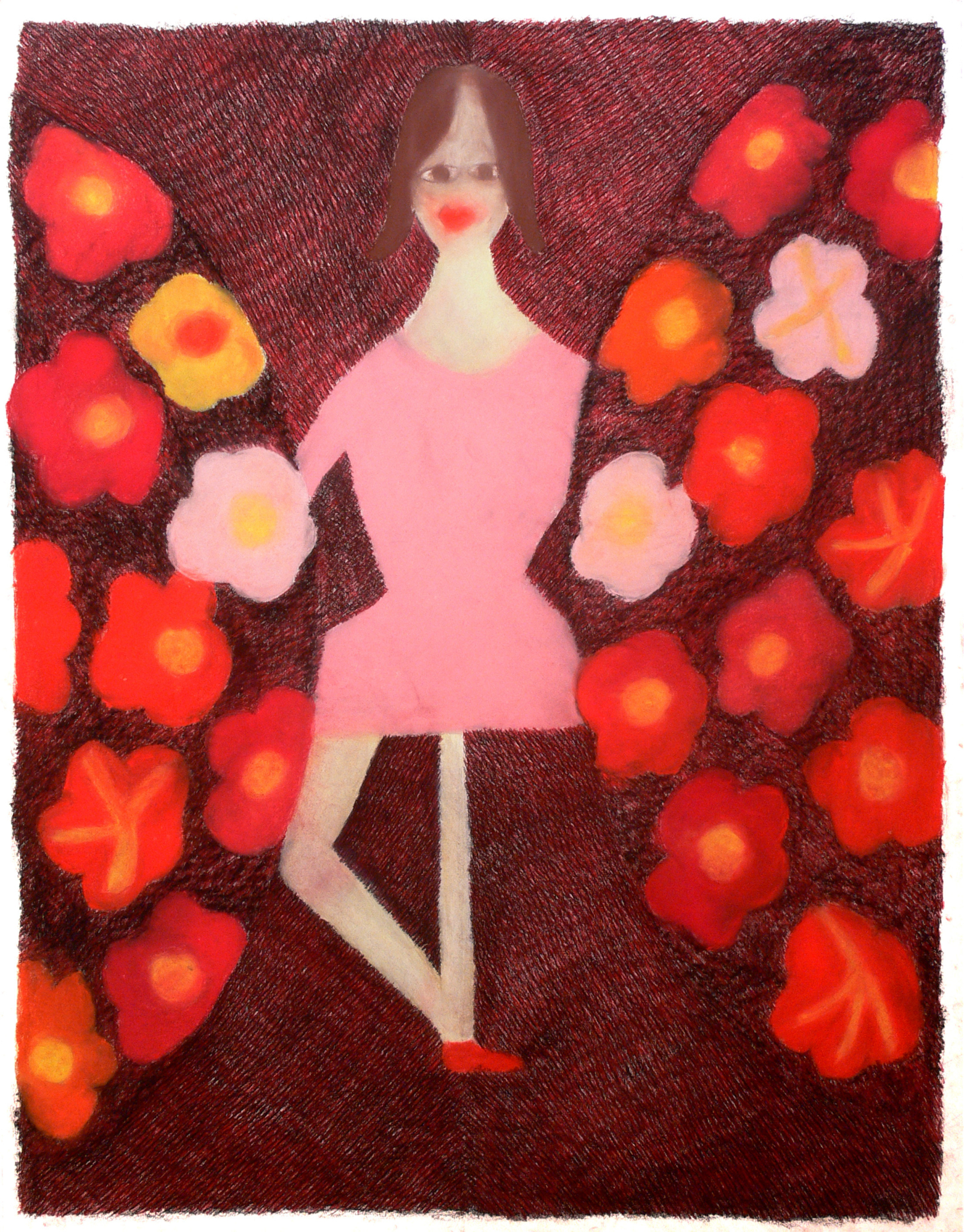 A dancer and flowers, 2005